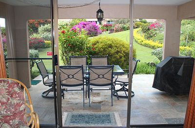 Our lanai is private, spacious and offers a good ocean view and gas BBQ