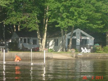 View of cottage from lake.