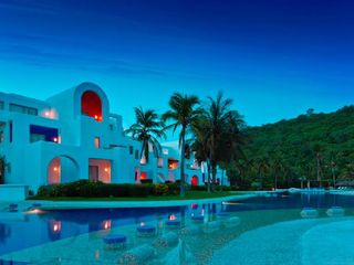 Huatulco villa photo - Night view of the Camino Real pool