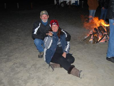 Enjoy a Bonfire on Port Aransas beach