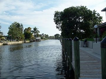 Cape Coral condo rental - Canal view
