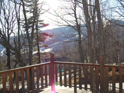 Elevated Deck (Gas BBQ, Winter View of Mount Snow_