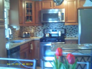 Beach Haven Garden house photo - sorry blurry! brand new kitchen w/breakfast nook