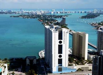 Spectacular views of Biscayne Bay and Miami Beach in the heart of Miami