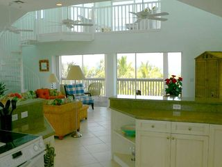 North Captiva Island house photo - Kitchen/ Family Room opens onto a screened deck