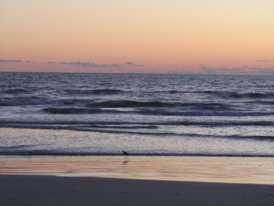 Sunrise at New Smyrna Beach just a couple minute walk from our great Beach house