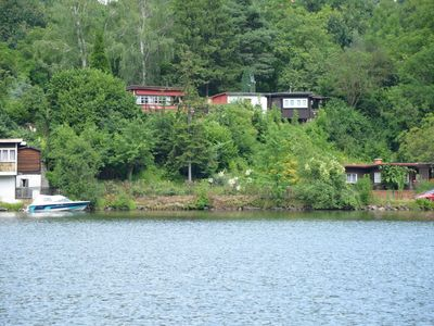 Cozy chalet with a view on the River Elbe. Nice garden with outdoor grill