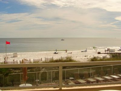 View from the balcony and we just addeed new chairs.