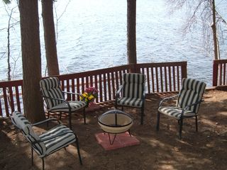 Windham cottage photo - Relax around the camp fire while enjoying the view