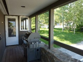 Teton Village condo photo - Covered Side of Deck off the Kitchen With Large Weber Gas BBQ