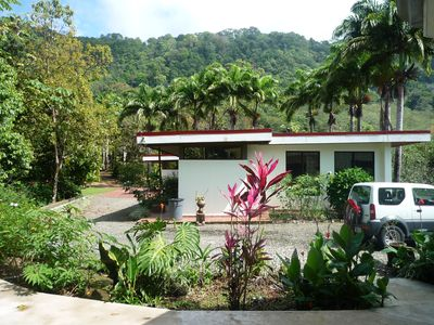Dominical villa rental - Guest house and our private jungle in the back