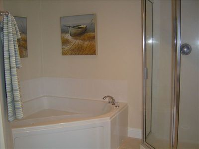 Jetted Garden Tub & Private Shower Will Spoil You
