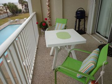 Dauphin Island condo rental - Balcony - Enjoy the pool view from your balcony