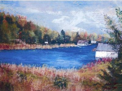 Lake Leelanau cottage rental - Sharon Ashley's Painting of the Narrows