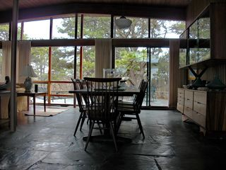 Chilmark house photo - Dinning Room is adjacent to Living Room within Great Room - also dinning on terr