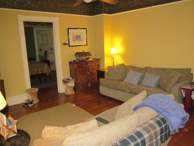 Roxbury house rental - Family room with TV and a great place to hang out and play!