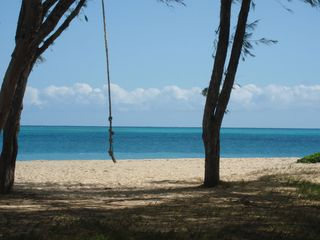 Kailua house photo - A short stroll to this beautiful stretch of white sand beach.