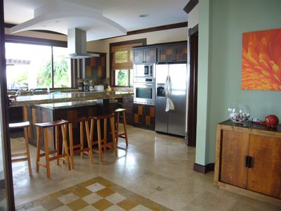 Samara villa rental - View of the elegant & fully outfitted gourmet kitchen. Chefs will love it!
