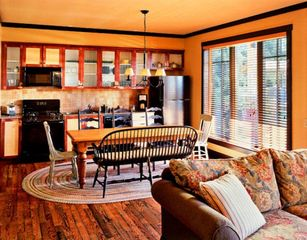 Collingwood cottage photo - Living Room and Kitchen at the Club Intrawest Blue Mountain Resort