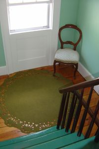 Stonington house rental - stairs to 2nd floor bedrooms