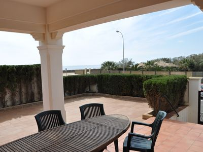 Isla Canela villa rental - Downstairs Front Terrace, Sea View