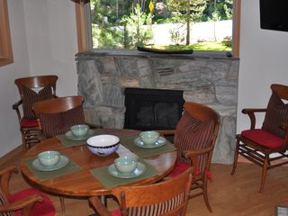 Incline Village house photo - The breakfast area with a fireplace and TV