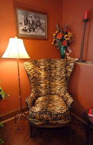 Tiger Chair in the Hunter Suite/1st Flat