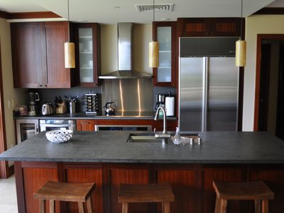 Gourmet kitchen with subzero and wolf appliances. Comes with everything you need