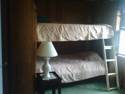 One of two bunkbeds