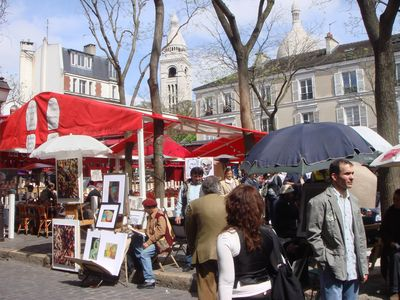 environment: the painters on Place du Tertre
