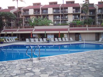 heated pool with activity area and two Jacuzzis (not showing)