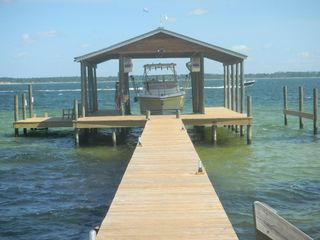 Pensacola Beach house photo - Boathouse/sound swimming deck