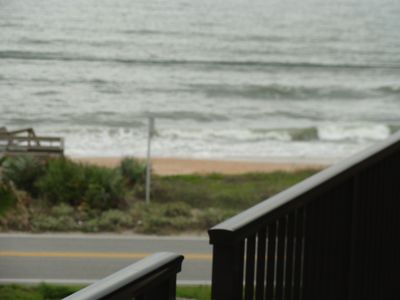Ormond-by-the-Sea condo rental - Balcony Shot, very close to waters edge