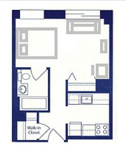 The Floor Plan with furniture layout