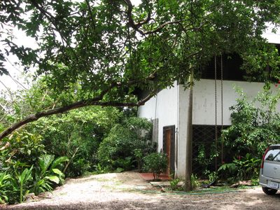 Playa Carrillo house rental - Downstairs entry and driveway