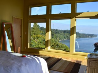 Bainbridge Island house photo - master bedroom expansive views