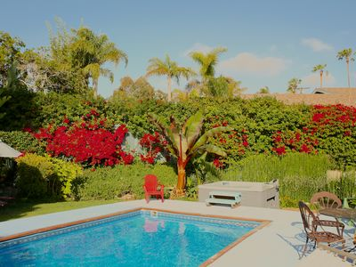 EnJoy your own Private Tropical Backyard with Private Heated Pool and Spa