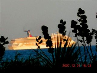 Passing Carnival Ship from Patio - Cocoa Beach condo vacation rental photo
