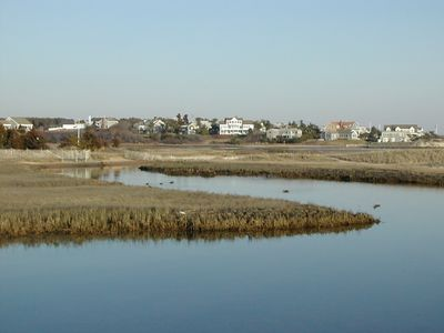 Chatham house rental - Ridgevale Estuary - Easterly view from Master and 2nd floor deck