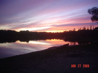 Harrison cottage rental - Sunset at association beach.