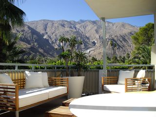 Palm Springs condo photo - Balcony seating area with mountain view