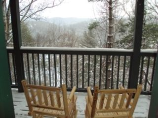 Boone cabin photo - Hand-carved rockers for reading or relaxing.