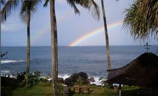 Waimea Bay house photo - A Special Place!!! Ocean front yard with double rainbows. Humpback whales???