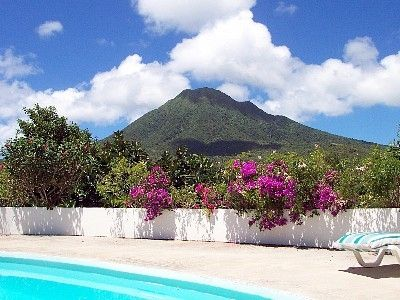 View of Mt. Nevis from Pool