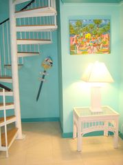 Elegant stairs to the second floor - Spanish Wells cottage vacation rental photo