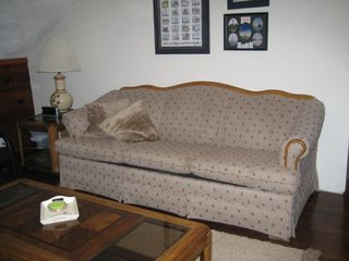 Houghton Lake house photo - Upstairs living room queen size sofa bed and futon