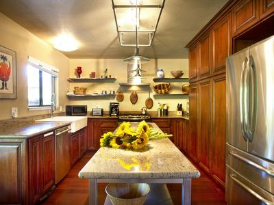Healdsburg estate rental - Gourmet Kitchen ready for you or your chef to cook.