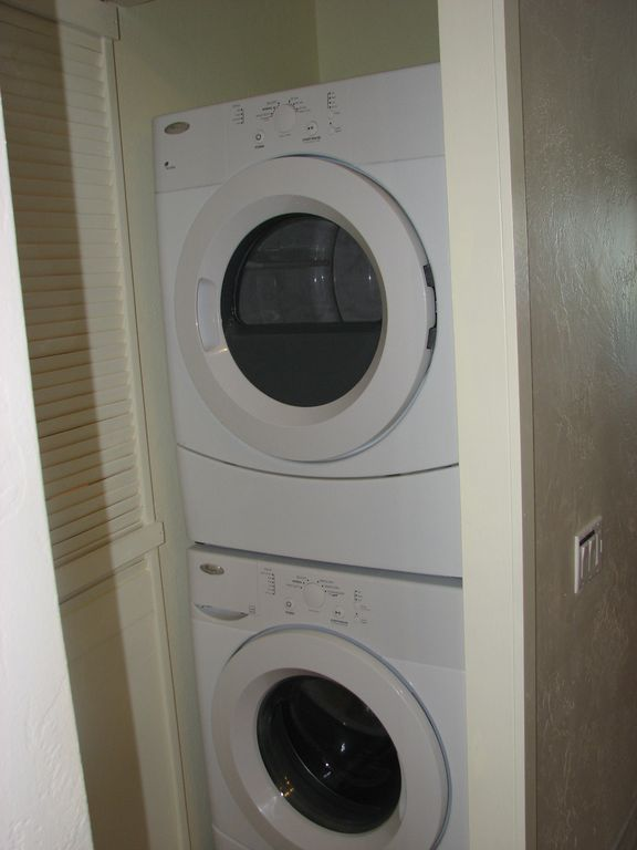 New Large HE stack Washer & Dryer