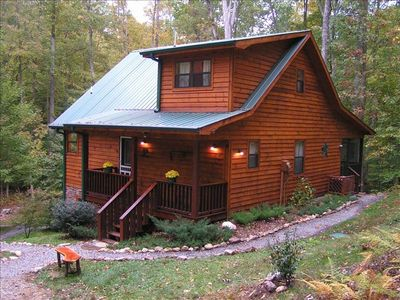 Cricket creek secluded 4 5 ac of mountain vrbo for Mobili cabina blairsville ga