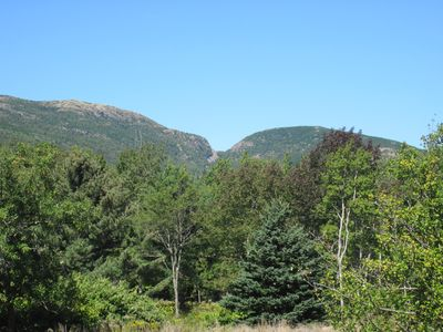 View from our relaxing deck of Cadillac and Door Mountains